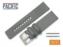 PACIFIC 24 mm pasek skórzany W59 szary
