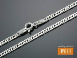ROMB PODWÓJNY łańcuszek srebrny 50 cm / 3 mm