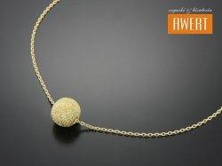 BEAD GOLD SAND srebrny naszyjnik pozłacany