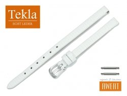TEKLA 06 mm pasek skórzany PT0086 biały
