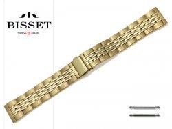BISSET 20 mm bransoleta stalowa BR110 złota