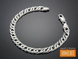 ROMB PODWÓJNY bransoleta srebrna 21 cm