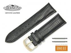 CHERMOND 24 mm pasek skórzany C103 czarny