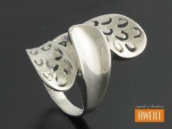 LAUREN srebrny duży pierścień roz.12