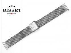 BISSET 16 mm bransoleta stalowa mesh BM101 srebrna