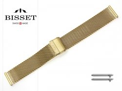 BISSET 20 mm bransoleta stalowa mesh BM102 złota