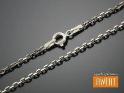 ANKIERKA łańcuszek srebrny oksydowany 45 cm / 2 mm