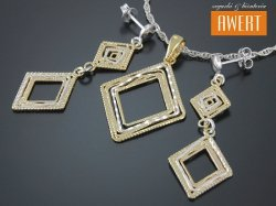 ADORNO AKI GOLD srebrny komplet biżuterii pozłacany