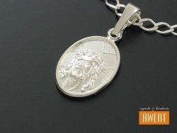 Medalik srebrny Oblicze Jezusa