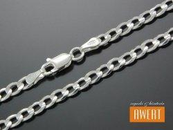 PANCERKA łańcuch srebrny diamentowany 55 cm / 4 mm