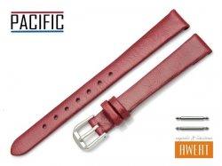 PACIFIC 12 mm pasek skórzany W86 czerwony