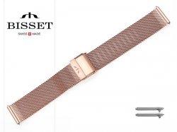 BISSET 18 mm bransoleta stalowa mesh BM101 złota