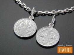 Medalik srebrny Św. Benedykt - mały