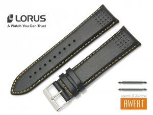 LORUS 24 mm oryginalny pasek 918372 czarny