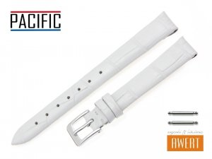 PACIFIC 12 mm pasek skórzany W09 biały