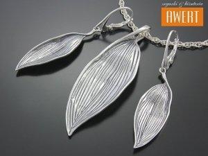 PLANTAGO srebrny komplet biżuterii