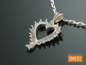 FRIOL srebrna zawieszka wisior serce z cyrkoniami