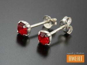 JULKA RED kolczyki srebrne z cyrkoniami