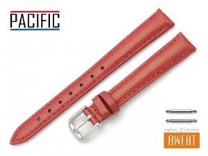 PACIFIC 12 mm pasek skórzany W114 czerwony perłowy