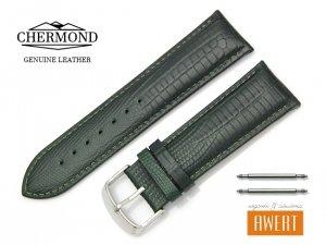 CHERMOND 24 mm pasek skórzany C103 zielony