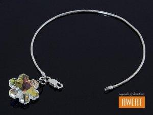 SNOWFLAKE CRYSTAL AB BANGLE bransoletka na ręke z kryształami SWAROVSKI