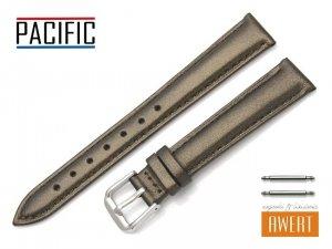 PACIFIC 14 mm pasek skórzany W114 brązowy perłowy