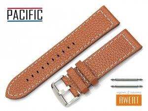 PACIFIC 24 mm pasek skórzany W45 brązowy