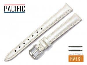 PACIFIC 12 mm pasek skórzany W114 ecru perłowy
