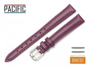 PACIFIC 12 mm pasek skórzany W114 fioletowy perłowy