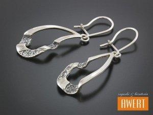 MILENA TWO kolczyki srebrne z cyrkoniami