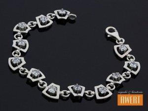BREE srebrna bransoleta z cyrkoniami