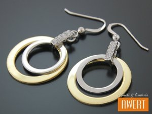 DORIO SILVER & GOLD kolczyki srebrne pozłacane