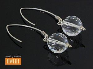 DISCO CRYSTAL srebrne kolczyki z kryształami