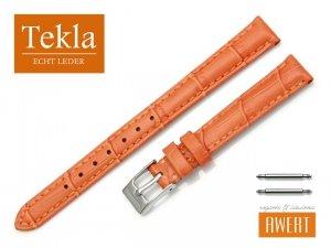 TEKLA 12 mm pasek skórzany PT41 pomarańczowy