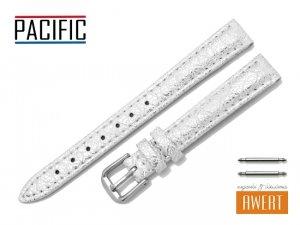 PACIFIC 12 mm pasek skórzany W123 biały