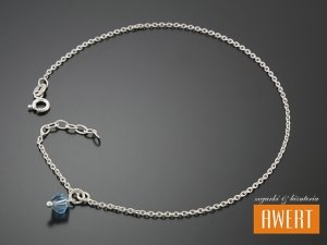 SANZA CRYSTAL srebrna bransoletka na nogę 25 cm