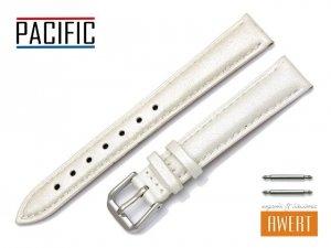 PACIFIC 14 mm pasek skórzany W114 ecru perłowy