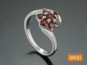 BLANES CRYSTAL srebrny pierścionek z cyrkoniami roz.12