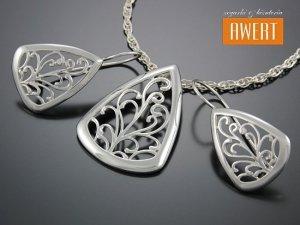 VETRATE srebrny komplet bizuterii