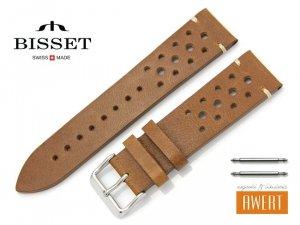 BISSET 22 mm pasek skórzany BS130 brązowy