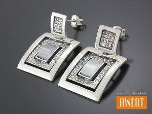 FANO GRAY kolczyki srebrne z kamieniami