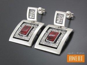 FANO CLARET kolczyki srebrne z kamieniami