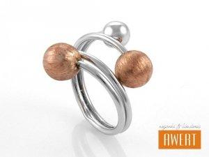 ATRUN GOLD srebrny pierścień roz.13