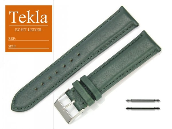 TEKLA 20 mm pasek skórzany PT53 zielony