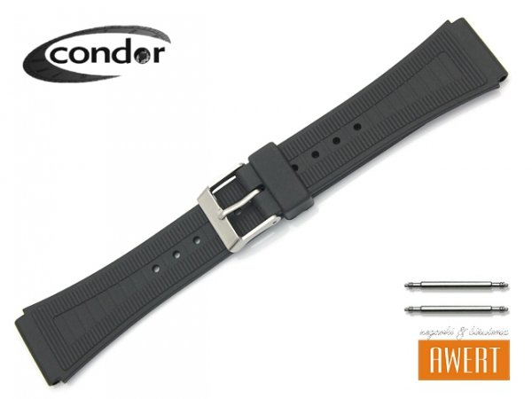 Pasek do zegarka silikonowy CONDOR 18mm