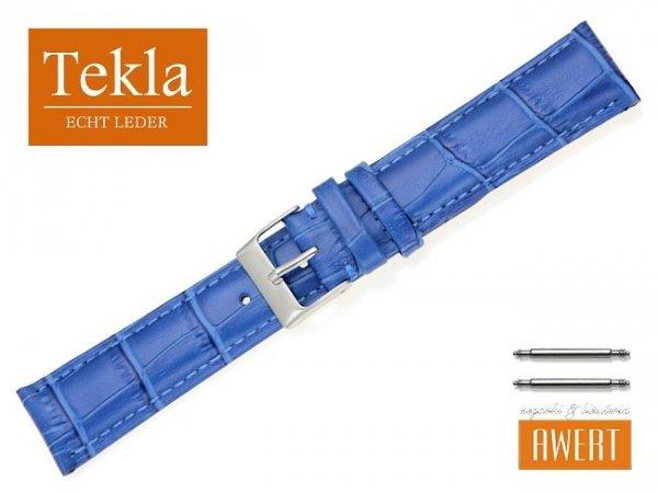 TEKLA 20 mm pasek skórzany PT25 nebieski