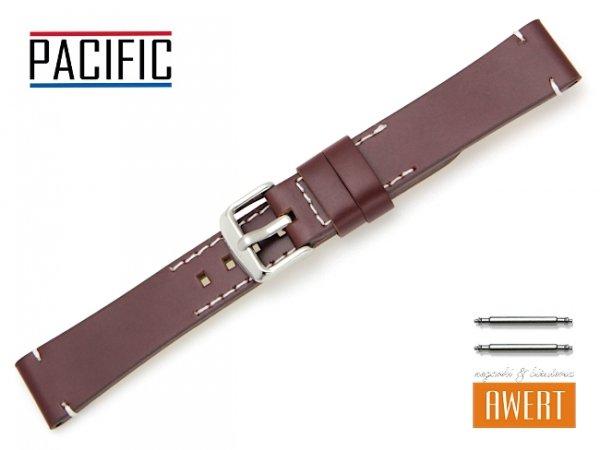 PACIFIC 18 mm pasek skórzany W90 brązowy W90-6WH-18