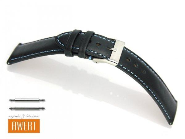 TEKLA 18 mm pasek skórzany PT53 niebieskie szycie