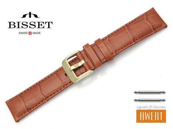 Pasek skórzany do zegarka 20 mm BISSET BS161 brązowy