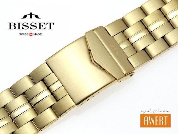 BISSET 26 mm bransoleta stalowa BR114 złota